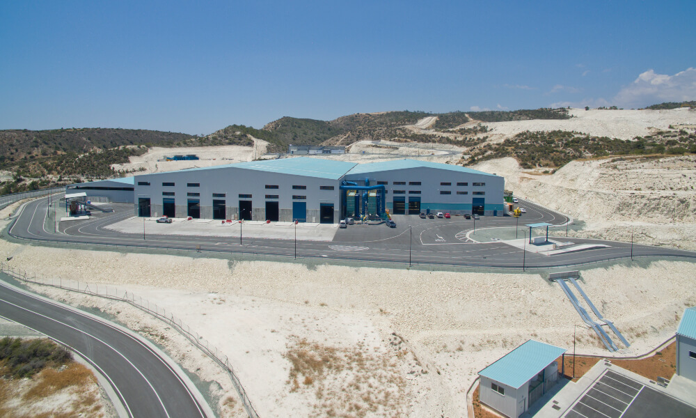 Poultry manure processing facility, Singapore Anaergia Materials Recovery I MSW I Limassol, Cyprus